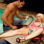 Raquel gets ass-fucked by the pool boy
