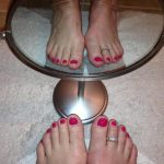 Mirrored Toes  Pussy Spread Wide Open