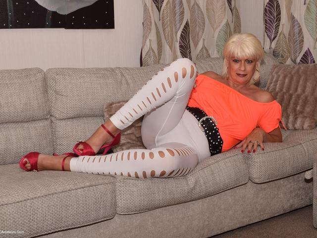 White Leggings  No Panties